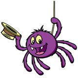 bitsy itsy pająk ilustracja wektor