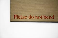 Bitte verbiegen Sie nicht Lizenzfreie Stockbilder