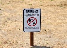 Bitte ziehen Sie nicht Zeichen der wild lebenden Tiere ein Lizenzfreie Stockfotografie