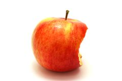 Bitten Apple. Isolated on White Stock Photography