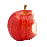 Bitten apple. On isolated background stock image