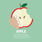 Bitten Apple In Hand Royalty Free Stock Images