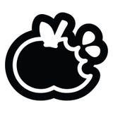 Bitten apple icon. A creative illustrated bitten apple icon image stock illustration