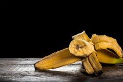Bitten banana Royalty Free Stock Photo
