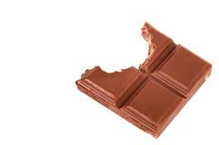 Bitten chocolate bar Royalty Free Stock Photos