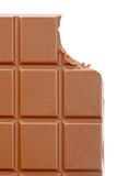 Bitten chocolate bar Stock Photography