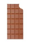 Bitten chocolate bar Royalty Free Stock Images