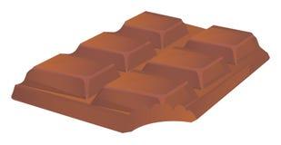 Bitten chocolate bar. One milk bitten chocolate bar royalty free illustration