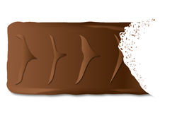 Bitten Chocolate Biscuit Bar Royalty Free Stock Image