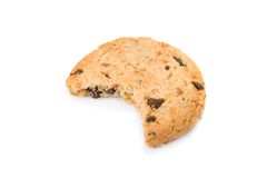 Bitten chocolate chip cookies Royalty Free Stock Image