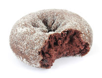 Bitten chocolate donut Stock Image