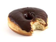 Bitten chocolate doughnut Royalty Free Stock Photos