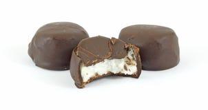 Bitten chocolate mint Royalty Free Stock Photo