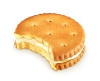 Bitten cookie icon Stock Photos