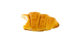 Bitten croissant Royalty Free Stock Photography