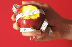 Bitten Diet Apple Royalty Free Stock Photography