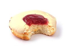 Bitten donut Stock Photography