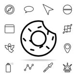 Bitten donut icon. web icons universal set for web and mobile. On white background vector illustration