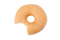 Bitten doughnut or donut isolated Stock Photography