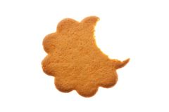 Bitten flower shaped cookie Stock Photography