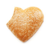 Bitten gingerbread heart Royalty Free Stock Photo