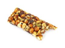 Bitten nut energy bar Stock Photos