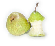 Bitten off pear Royalty Free Stock Photography