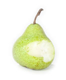 Bitten off pear Royalty Free Stock Photo