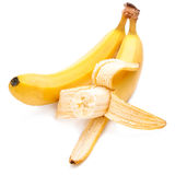 Bitten off yellow bananas ripe  Royalty Free Stock Image