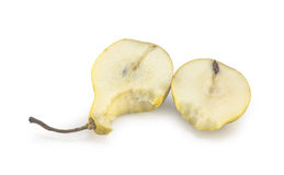 Bitten pear slices Royalty Free Stock Image