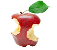 Bitten red apple Royalty Free Stock Images