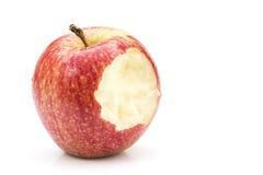 Bitten red apple Stock Photos
