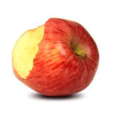 Bitten red apple Stock Image
