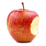 Bitten Red Apple  on White Royalty Free Stock Photos