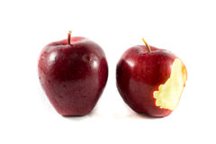 Bitten red apple Royalty Free Stock Photography