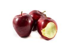 Bitten red apple Royalty Free Stock Photos