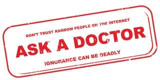 Bitten Sie um einen Doktoraufkleber Lizenzfreies Stockbild