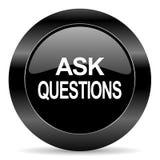 bitten Sie um Fragenikone Lizenzfreie Stockfotos