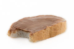 Bitten slice of bread Stock Images