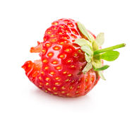 Bitten Strawberry Royalty Free Stock Photos