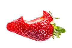 Bitten strawberry Stock Photography