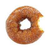 Bitten sugared cake doughnut Royalty Free Stock Images