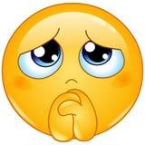 Bitten von Emoticon stock abbildung