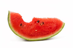 Bitten watermelon portion Royalty Free Stock Image
