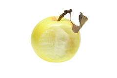 Bitten yellow apple Royalty Free Stock Photo