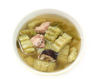 Bitter cucumber soup with pork rib Royalty Free Stock Image