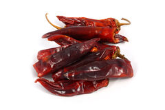 Bitter dried red pepper. On a white background Stock Images