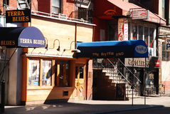The Bitter End, Greenwich Village. The Bitter End is one of the few remaining live music venues in Greenwich Village Royalty Free Stock Photography