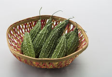 Bitter gourd. In a basket Stock Photo