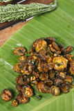 Bitter gourd fry a dish from Tamil Nadu Stock Photo